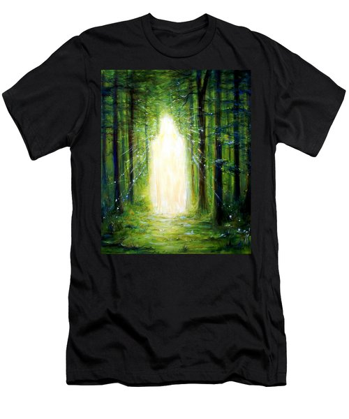 Men's T-Shirt (Slim Fit) featuring the painting Light In The Garden by Heather Calderon