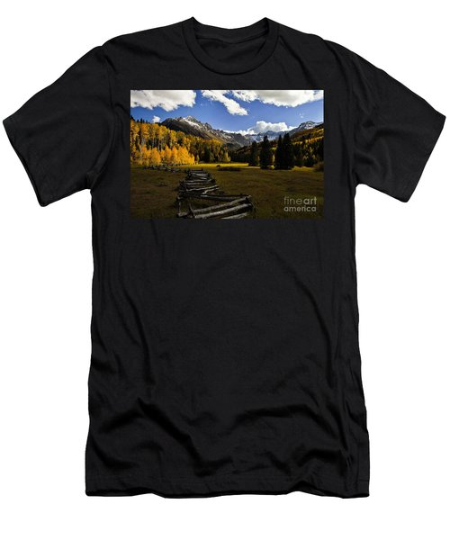 Light In The Valley Men's T-Shirt (Slim Fit) by Steven Reed