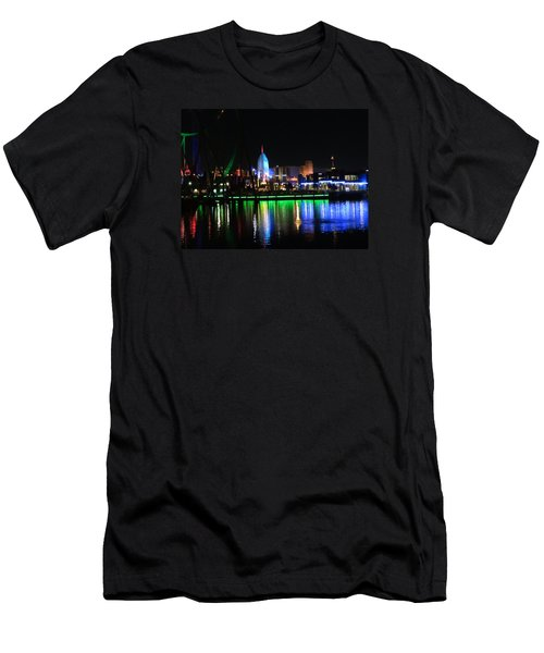 Light Reflections At Night Men's T-Shirt (Slim Fit) by Kathy Long