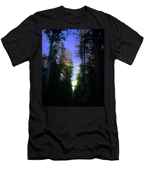 Men's T-Shirt (Slim Fit) featuring the digital art Light Through The Forest by Cathy Anderson