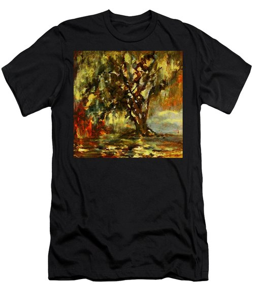 Light Through The Moss Tree Landscape Painting Men's T-Shirt (Athletic Fit)