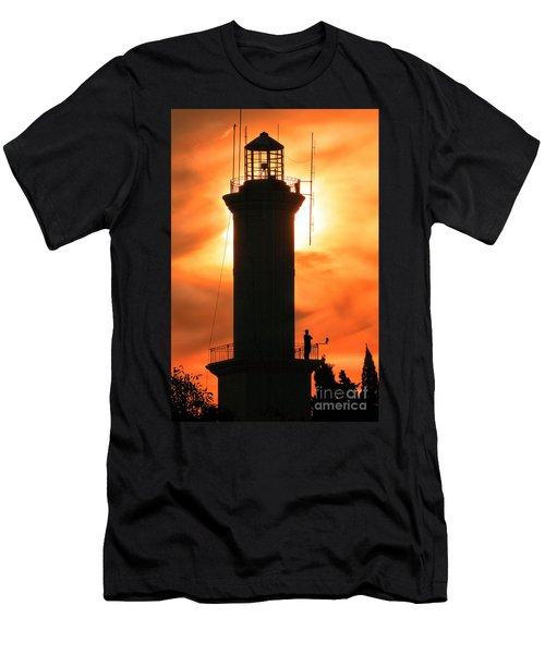 Men's T-Shirt (Slim Fit) featuring the photograph Lighthouse I by Bernardo Galmarini