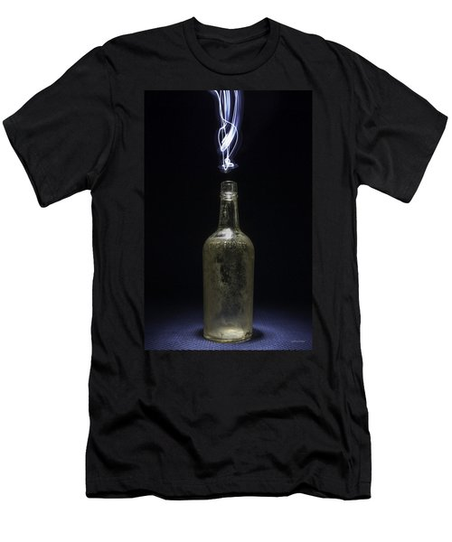 Men's T-Shirt (Slim Fit) featuring the photograph Lighting By The Quart - Light Painting by Steven Milner
