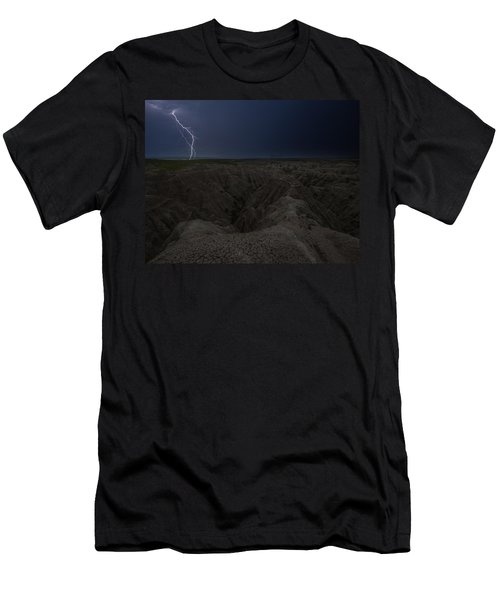 Lightning Crashes Men's T-Shirt (Athletic Fit)
