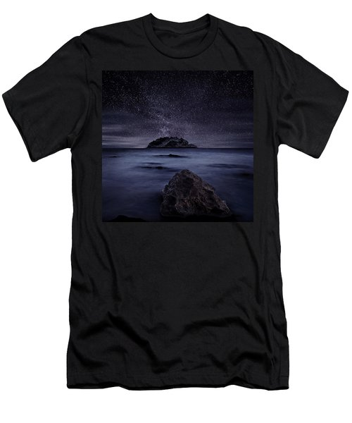 Lights Of The Past Men's T-Shirt (Slim Fit) by Jorge Maia