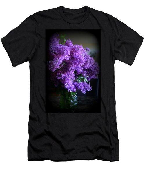 Lilac Bouquet Men's T-Shirt (Slim Fit) by Kay Novy