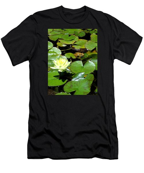 Lily And Amphibian Friend Men's T-Shirt (Athletic Fit)