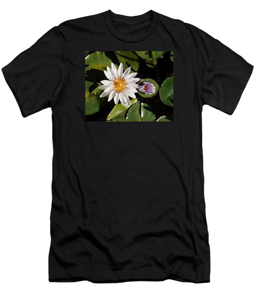 Lily Flowers Men's T-Shirt (Athletic Fit)