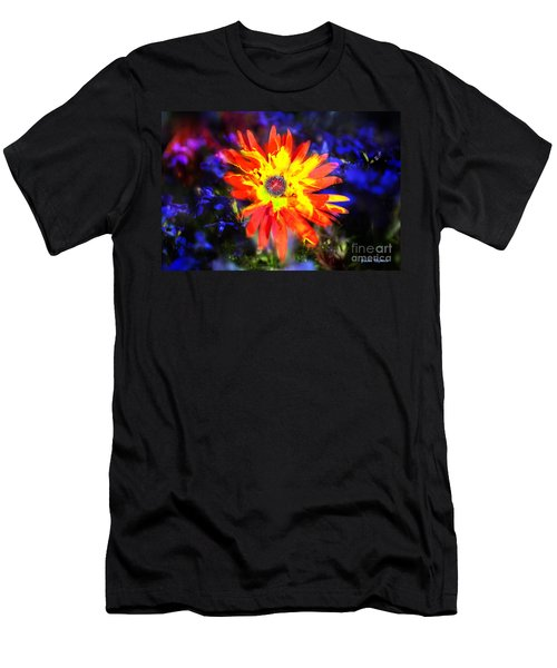 Men's T-Shirt (Athletic Fit) featuring the photograph Lily In Vivd Colors by Gunter Nezhoda