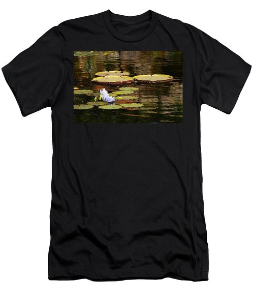 Men's T-Shirt (Slim Fit) featuring the photograph Lily Pad by Kathy Churchman