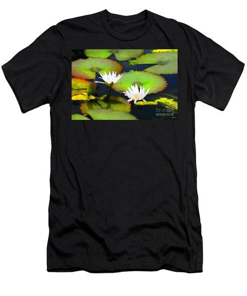 Lily Pond Bristol Rhode Island Men's T-Shirt (Slim Fit) by Tom Prendergast