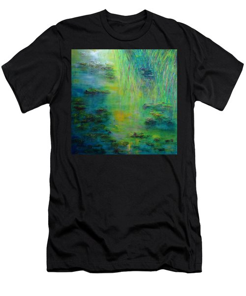 Lily Pond Tribute To Monet Men's T-Shirt (Athletic Fit)