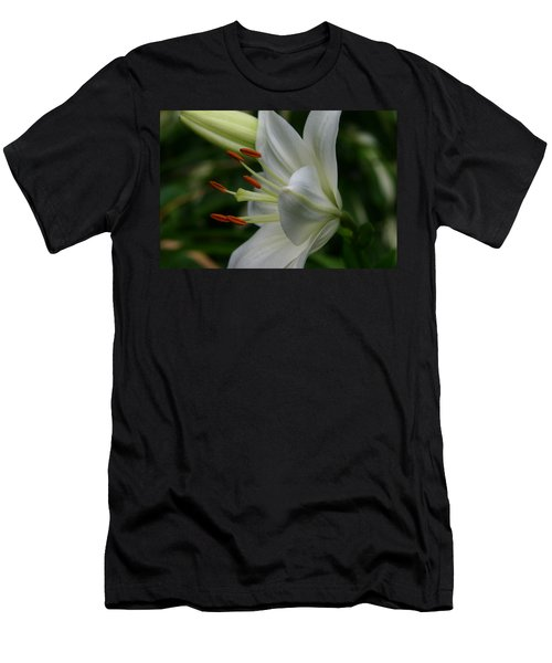 Men's T-Shirt (Slim Fit) featuring the photograph Lily Pure by Denyse Duhaime