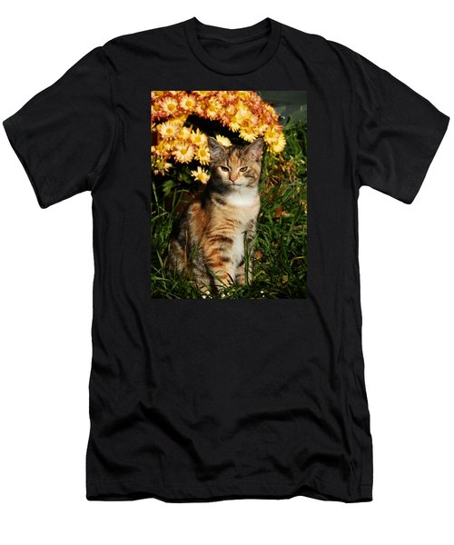Lily With Harvest Mums Men's T-Shirt (Athletic Fit)
