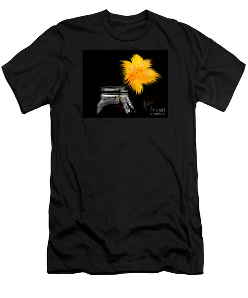 Lily Yellow Men's T-Shirt (Athletic Fit)