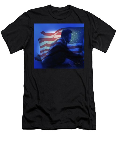 Lincoln Men's T-Shirt (Slim Fit) by Kevin Caudill