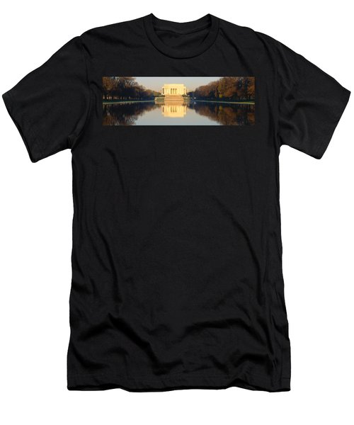 Lincoln Memorial & Reflecting Pool Men's T-Shirt (Slim Fit) by Panoramic Images
