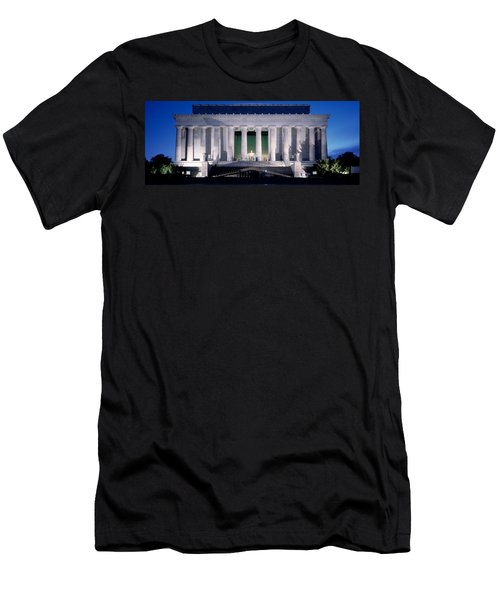 Lincoln Memorial At Dusk, Washington Men's T-Shirt (Slim Fit) by Panoramic Images