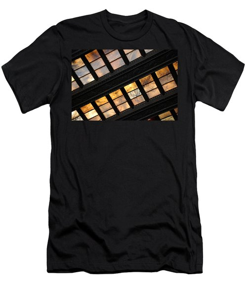 Lincoln Memorial Stained Glass Men's T-Shirt (Athletic Fit)