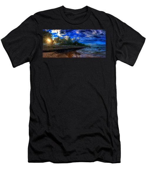 Lincoln Park Sunset Men's T-Shirt (Athletic Fit)