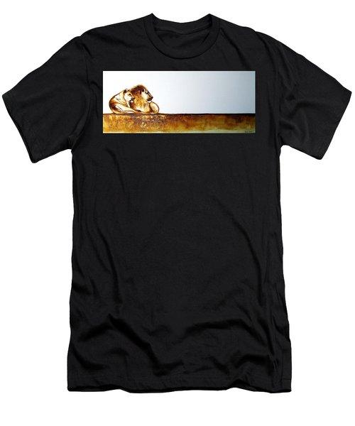 Lion And Lioness - Original Artwork Men's T-Shirt (Athletic Fit)