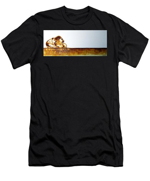 Lion And Lioness - Original Artwork Men's T-Shirt (Athletic Fit)