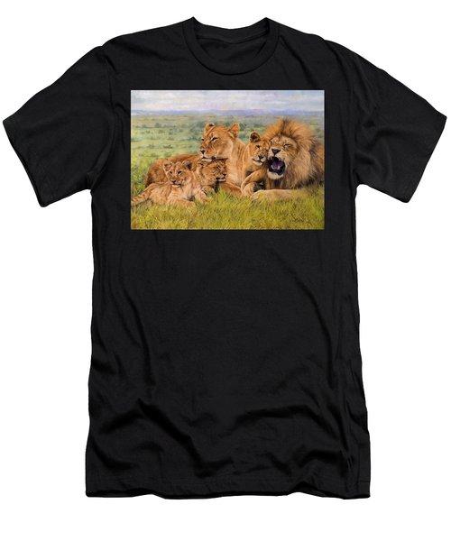 Lion Family Men's T-Shirt (Athletic Fit)