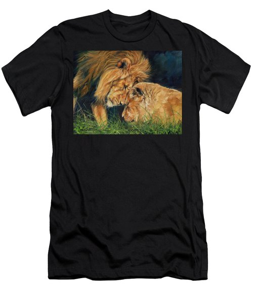 Lion  Love Men's T-Shirt (Athletic Fit)