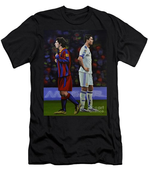 Lionel Messi And Cristiano Ronaldo Men's T-Shirt (Athletic Fit)