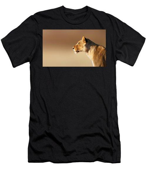 Lioness Portrait Men's T-Shirt (Athletic Fit)