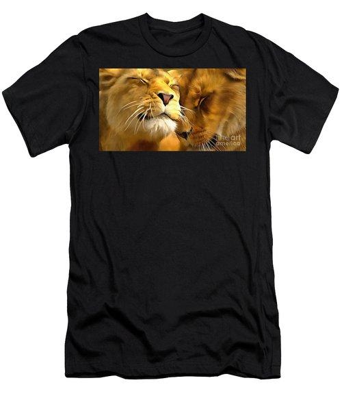 Lions In Love Men's T-Shirt (Athletic Fit)
