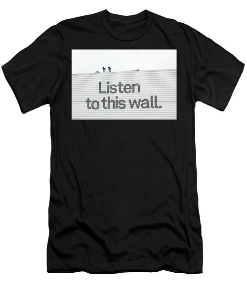 Listen Men's T-Shirt (Slim Fit) by Art Block Collections
