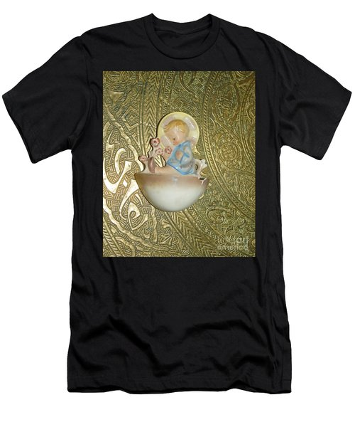 Newborn Boy In The Baptismal Font Sculpture Men's T-Shirt (Athletic Fit)