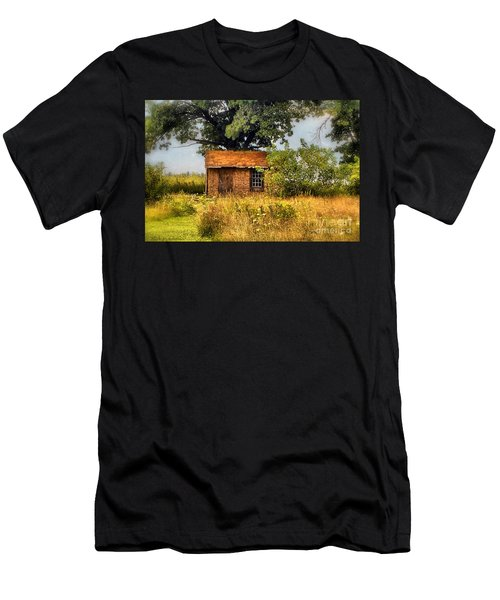 Men's T-Shirt (Slim Fit) featuring the photograph Little House On The Prairie by Peggy Franz