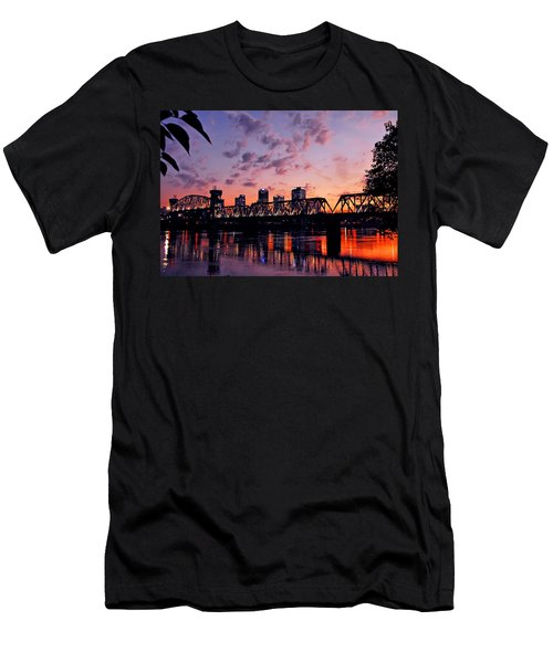 Little Rock Bridge Sunset Men's T-Shirt (Athletic Fit)
