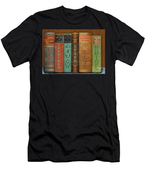 Live-laugh-love-books Men's T-Shirt (Athletic Fit)
