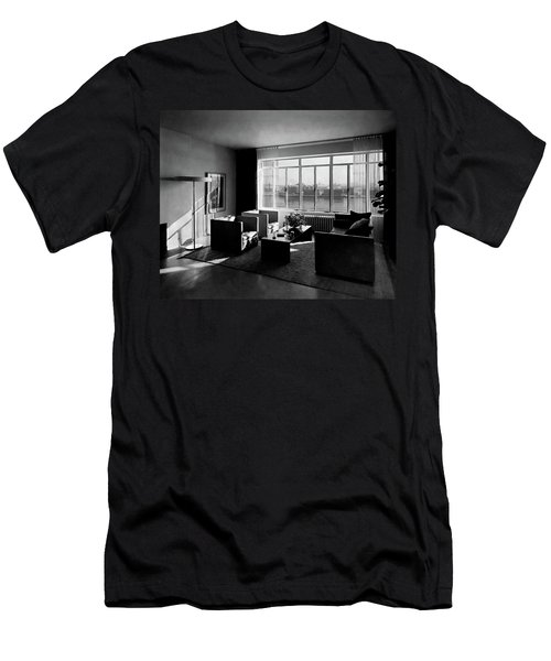 Living Room In The Ny Home Of Edward M. M Men's T-Shirt (Athletic Fit)