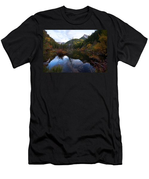 Men's T-Shirt (Slim Fit) featuring the photograph Lizard Lake by Jim Garrison