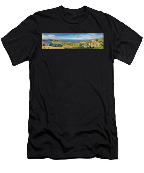 Llanbadrig Church Panorama Men's T-Shirt (Athletic Fit)