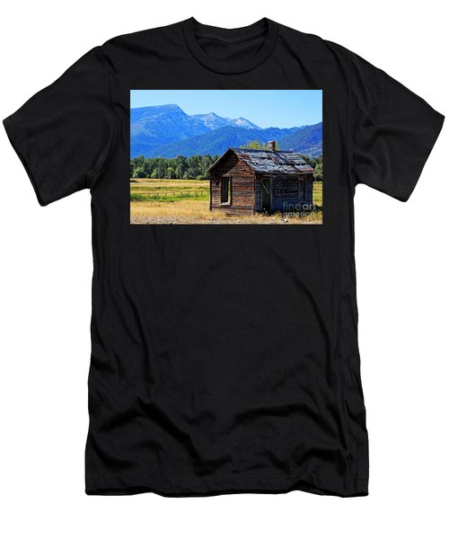 Men's T-Shirt (Slim Fit) featuring the photograph Location Location Location Montana by Joseph J Stevens