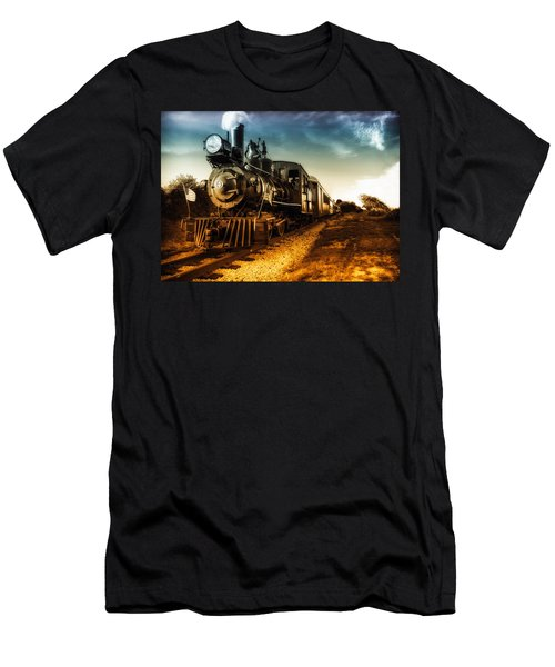 Men's T-Shirt (Athletic Fit) featuring the photograph Locomotive Number 4 by Bob Orsillo