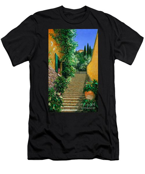 Lofty Heights Men's T-Shirt (Slim Fit) by Michael Swanson