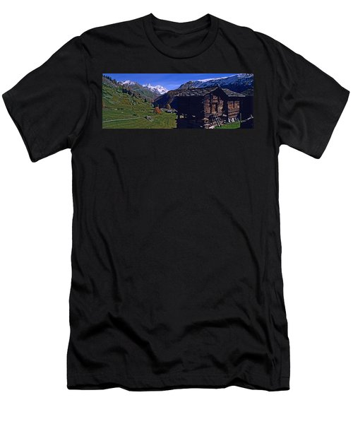 Log Cabins On A Landscape, Matterhorn Men's T-Shirt (Athletic Fit)