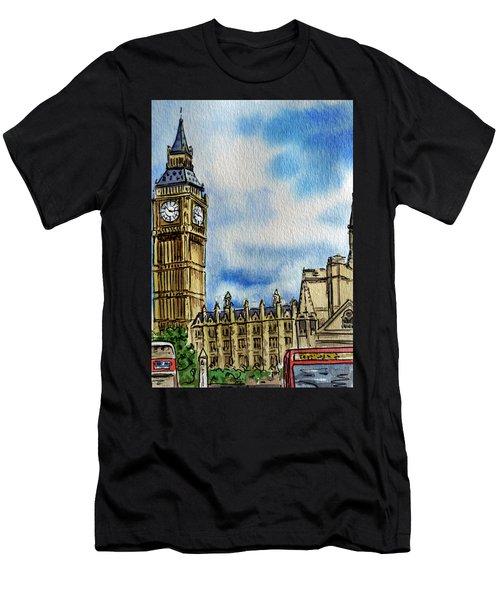 London England Big Ben Men's T-Shirt (Athletic Fit)