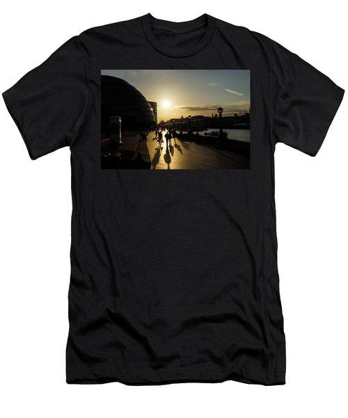 Men's T-Shirt (Slim Fit) featuring the photograph London Silhouettes  by Georgia Mizuleva