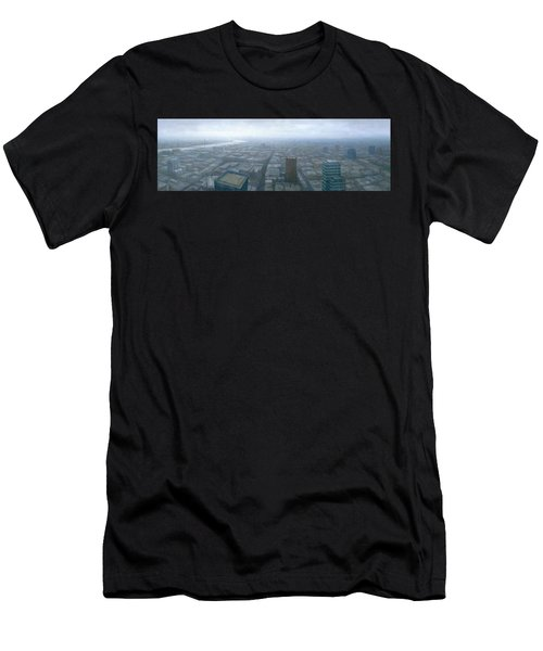 London Skyline Cityscape Men's T-Shirt (Athletic Fit)