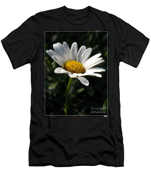 Lone Daisy Men's T-Shirt (Slim Fit) by Sara  Raber