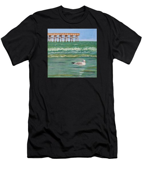 Lone Gull A-piers Men's T-Shirt (Athletic Fit)