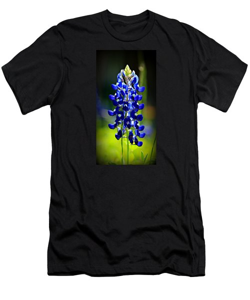 Lone Star Bluebonnet Men's T-Shirt (Slim Fit) by Stephen Stookey