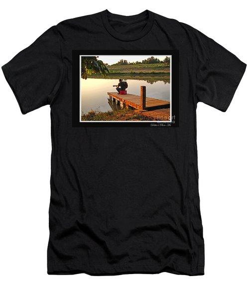 Lonely Guitarist Men's T-Shirt (Athletic Fit)